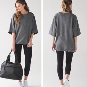 Lululemon Split Short Sleeve Oversized Sweatshirt